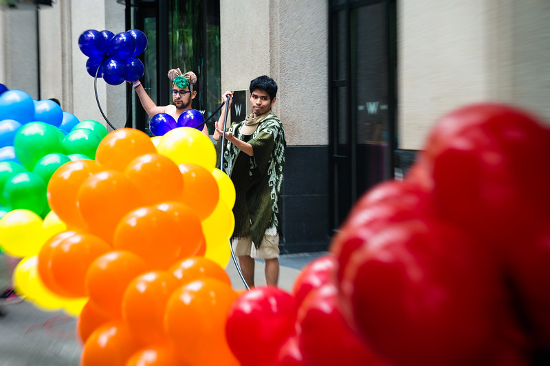 Rainbow Balloon Assembly Crew