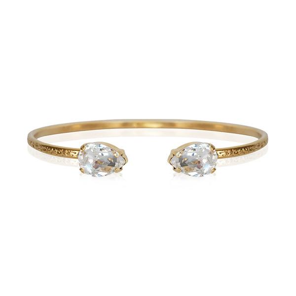 Petite Drop Bracelet / Crystal / Gold