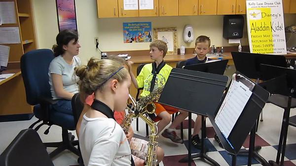 4th Grade Sax practice clip