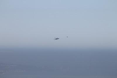 space shuttle endeavor bay area flyby