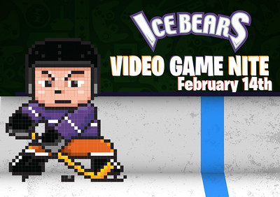 Ice Bears (5) v Roanoke (2) 2-14-20 Video Game Night
