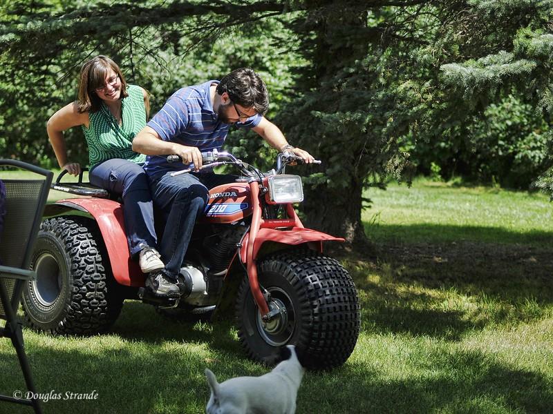 2010   Paul & Ruth on the ATV