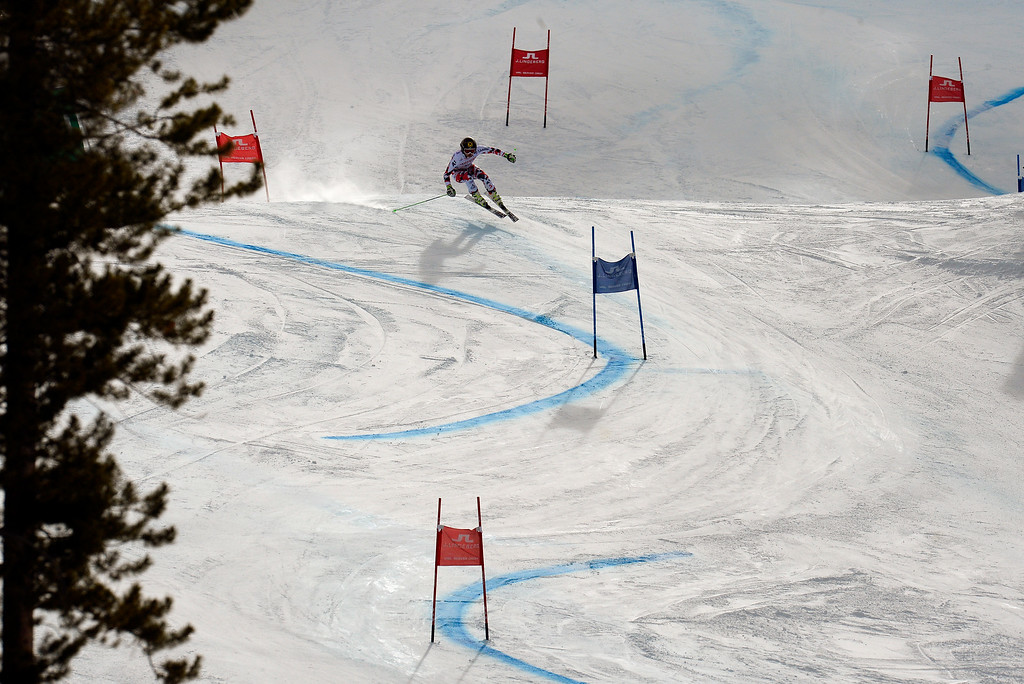 . BEAVER CREEK, CO - FEBRUARY 12: Anna Fenninger of Austria competes in the first run of the Ladies Giant Slalom event at the FIS Alpine World Ski Championships in Beaver Creek, CO. February 12, 2015. (Photo By Helen H. Richardson/The Denver Post)