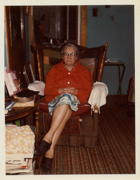 This is how I remember Grandma Dodrill.  She had her chair and Grandpa had his and I don't think I ever saw anyone else sitting in them.  :-)