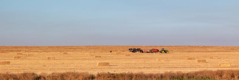 Oregon Hay Farming Sunrise