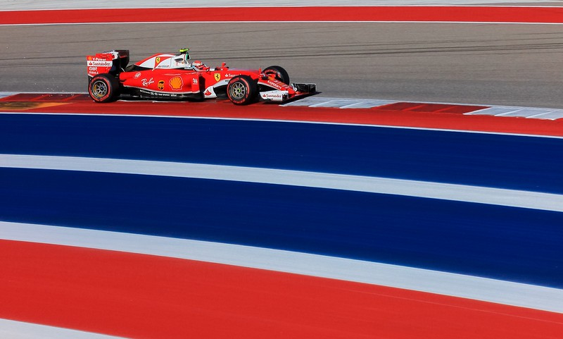 Kimi Raikonnen in the Ferrari.