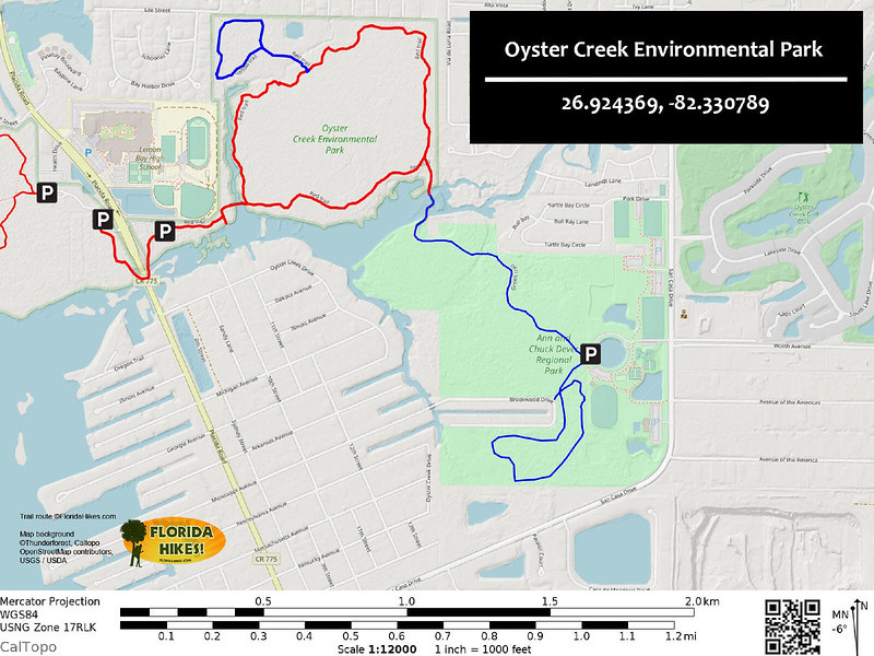 Oyster Creek Environmental Park Trail Map