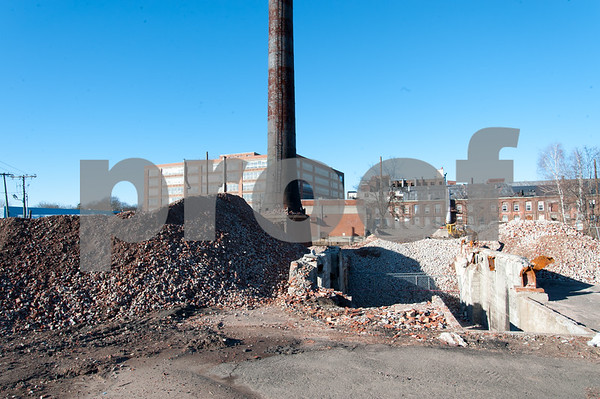 01/25/18 Wesley Bunnell | Staff Only the chimney remains at the former Stanley steam house at 95 Curtis St.