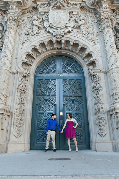 Amy & Wilmer's Engagement | Balboa Park | San Diego Wedding Photographer