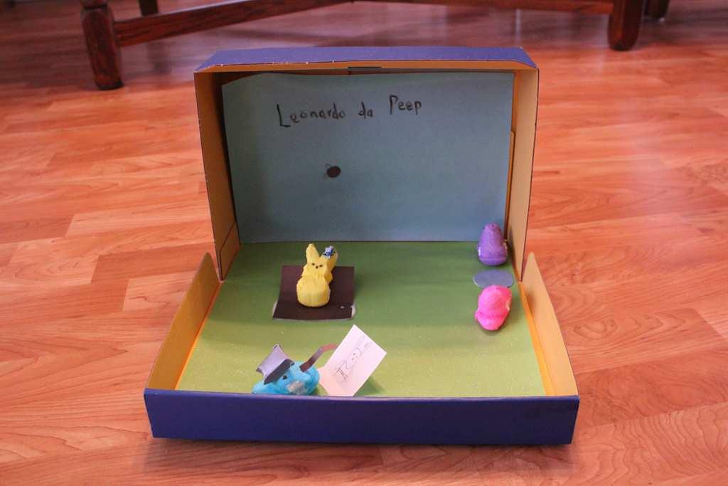 """. \""""Leonardo de Peeps,\"""" by Lauren Ebert, 10"""