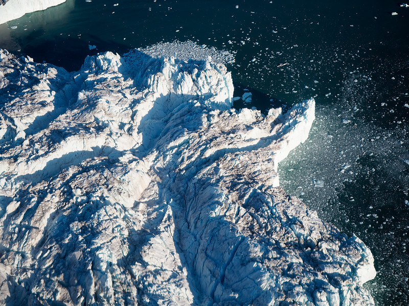 Flying over Sermeq Avangnardleq, the Northern Glacier