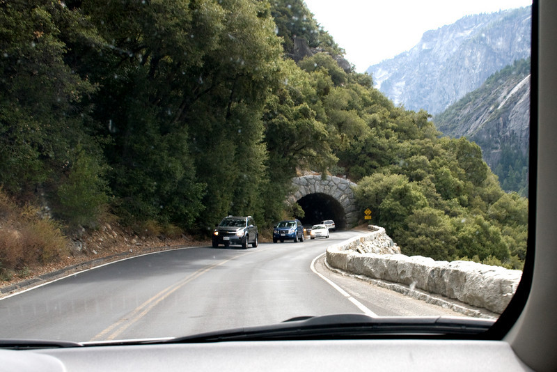 Entrance to the second, shorter, tunnel (through the car window, so a bit spotty).