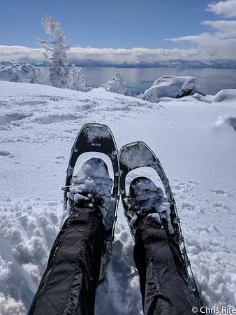 Echo Lake and Herlan Peak Snowshoe, Feb 2017