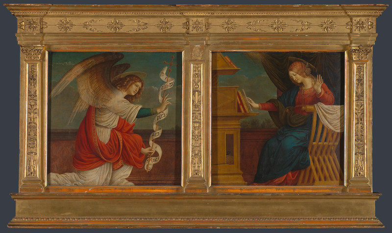 Panels from an Altarpiece: The Annunciation