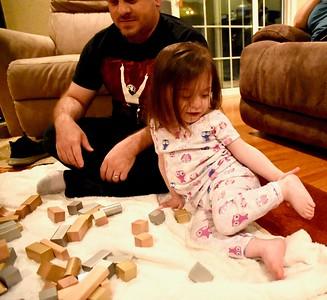 Ariella & Isabel Playing With Blocks-10/26/18