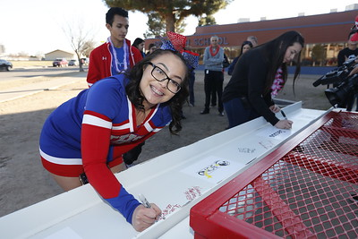 Irvin High School Bond 2016 beam signing ceremony
