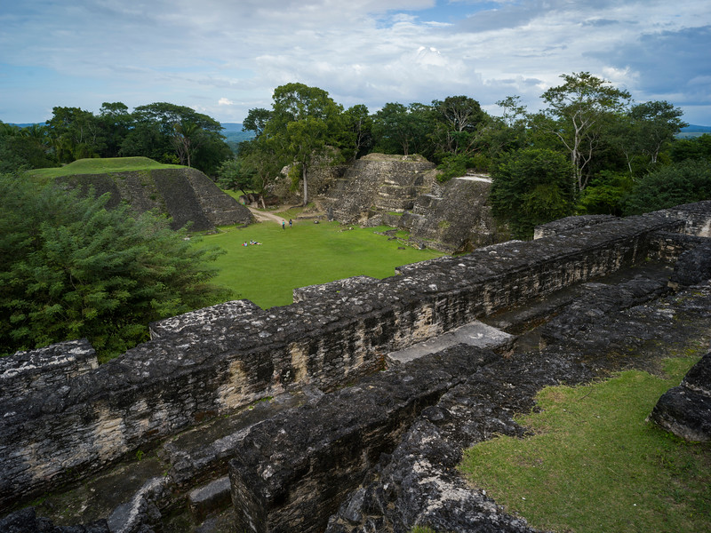 Elevated view of Ancient Mayan Archaeological Site, San Jose Succotz, Cayo District, Belize