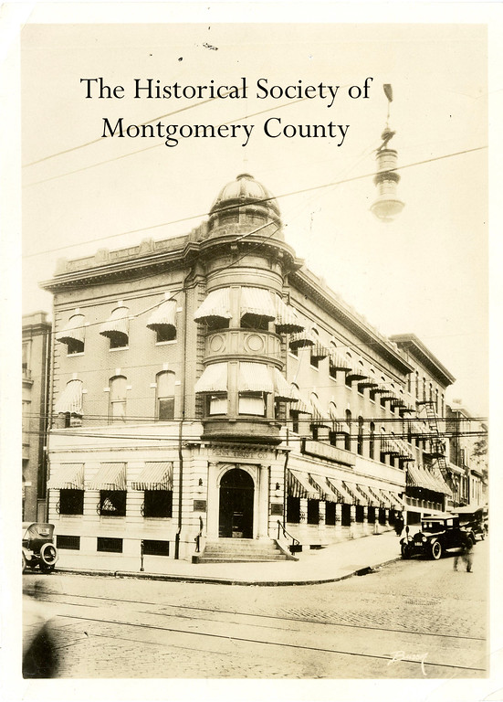 . This undated photo from the Historical Society of Montgomery County shows the Penn Trust Company building in Norristown.