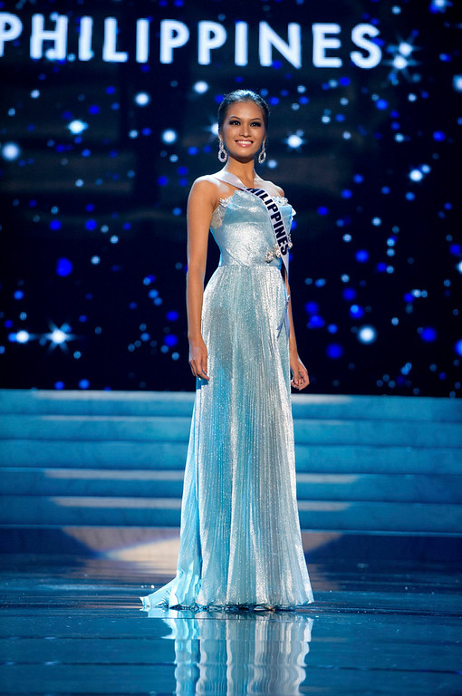 . Miss Philippines 2012 Janine Tugonon competes in an evening gown of her choice during the Evening Gown Competition of the 2012 Miss Universe Presentation Show in Las Vegas, Nevada, December 13, 2012. The Miss Universe 2012 pageant will be held on December 19 at the Planet Hollywood Resort and Casino in Las Vegas. REUTERS/Darren Decker/Miss Universe Organization L.P/Handout