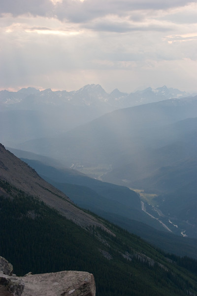 Miette Valley from Whistlers Peak