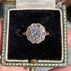 1.97ctw Antique Cluster Ring, GIA G SI2 3