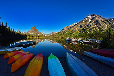 Glacier NP, MT,  Waterton NP, Alberta & Theodore Roosevelt NP, ND