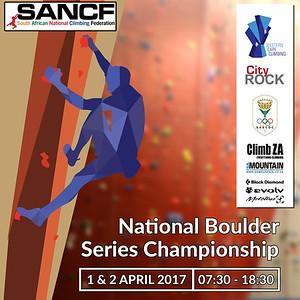 2017 NATIONAL BOULDER SERIES CHAMPIONSHIP