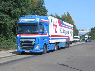 Northern Ireland Trucks in Belfast Sept 20 Corona Pandemic