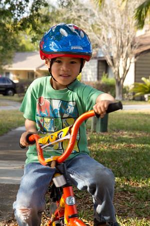 Matthew and Nicholas Biking