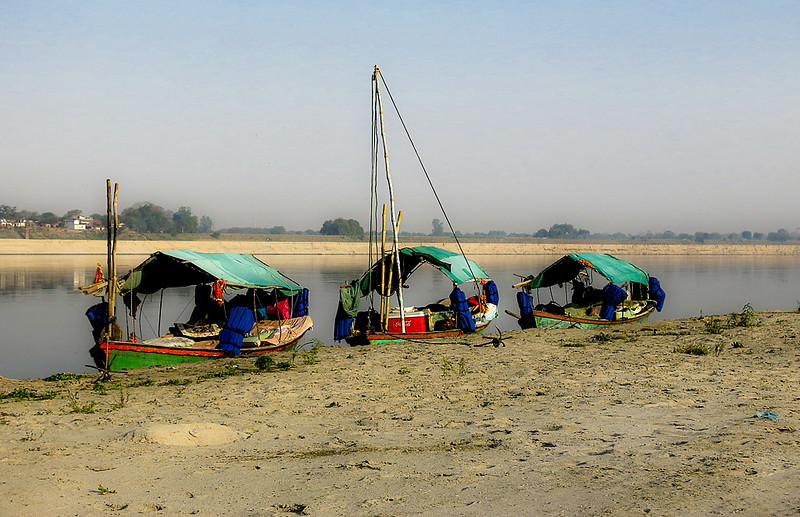 Jane L ~ On the banks of the Ganges.jpg