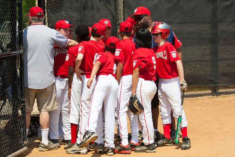 The bats of the Nationals were supported by a great defensive outing in a 11-4 win over the Twins. They are now 7-3 for the season. 2012 Arlington Little League Baseball, Majors Division. Nationals vs Twins (13 May 2012) (Image taken by Patrick R. Kane on 13 May 2012 with Canon EOS-1D Mark III at ISO 400, f4.0, 1/3200 sec and 98mm)