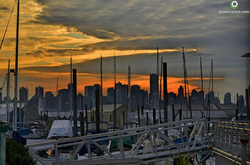 Sunset at Mosquito Creek Marina