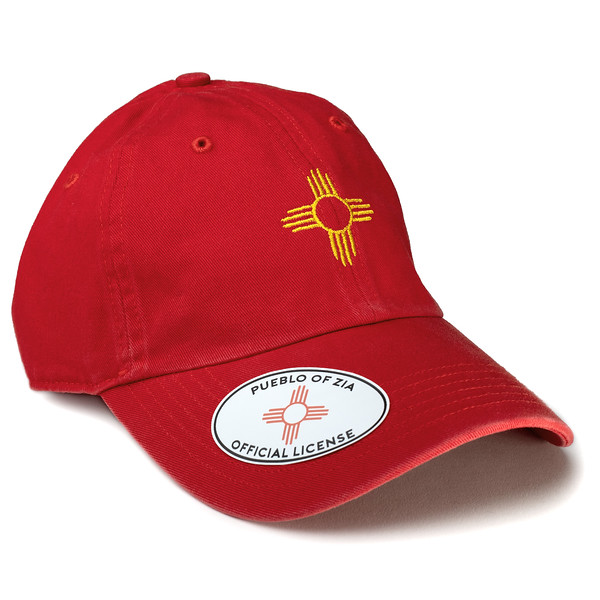 Outdoor Apparel - Organ Mountain Outfitters - Hat - Zia Sun Symbol Dad Cap Red.jpg