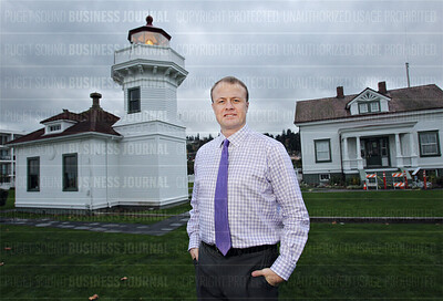 Political activist Tim Eyman is pictured at the Mukilteo Lighthouse in Mukilteo, Washington