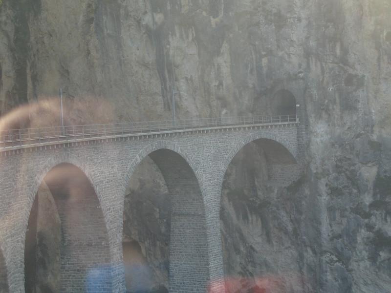 Approaching the Landwasser Viaduct