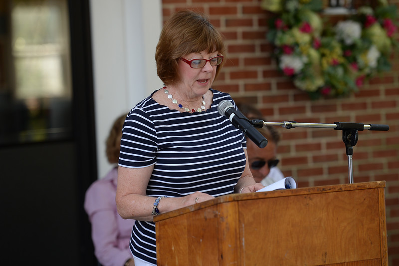 Dori Hillson was one of the featured speakers who helped recite the Declaratiom of Independence at the Boro of Avon, Nj 10th Annual Patriotic Celebration held on 07/03/2019.(STEVE WEXLER/THE COAST STAR).