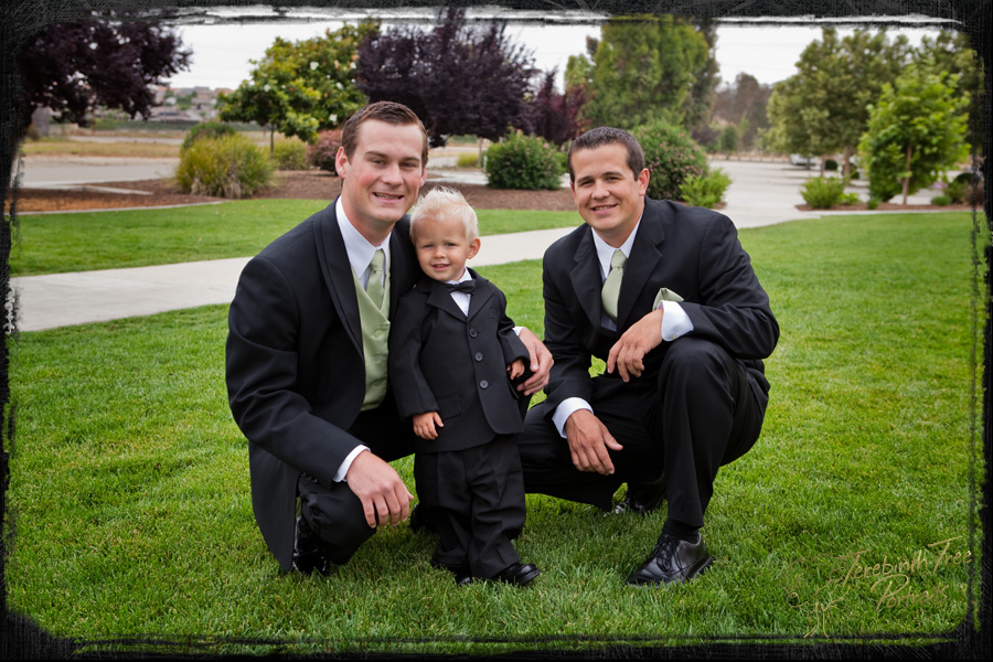Tucker, Carter and Logan at Tucker's Temecula wedding