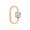 Marla Aaron Stoned Lock for Jewels by Grace Exclusive, Yellow Gold 0