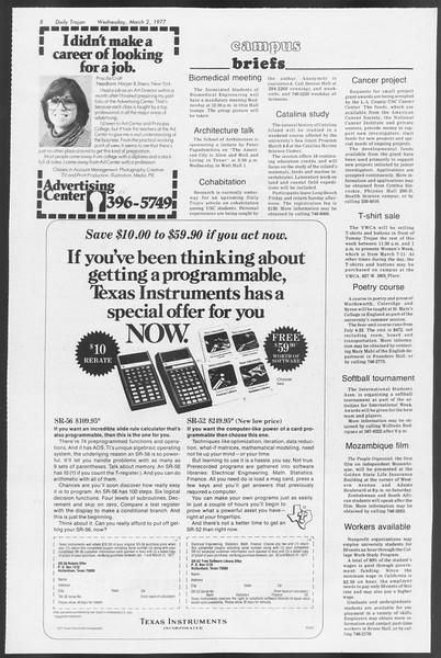 Daily Trojan, Vol. 71, No. 15, March 02, 1977