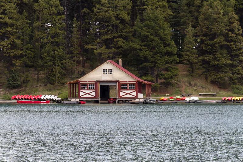 Boathouse, Maligne Lake