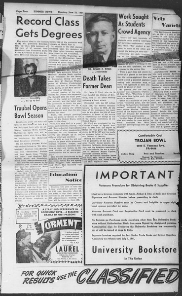 Summer News, Vol. 2, No. 1, June 23, 1947
