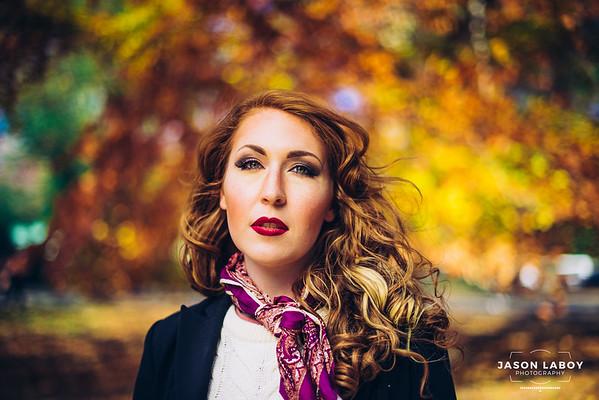 Saraphina Autumn Candid Portrait