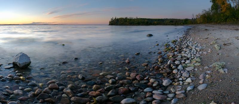 Cold Lake Beach At Sunset