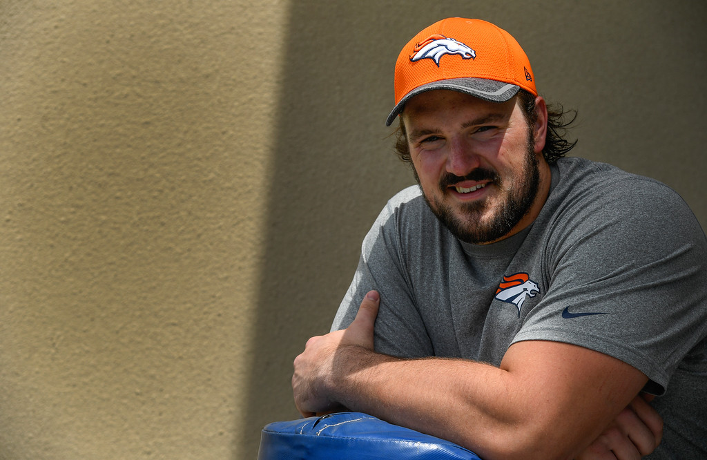 . Denver Broncos Connor McGovern (60) poses for a portrait during rookie minicamp May 6, 2016 at UCHealth Training Facility. (Photo By John Leyba/The Denver Post)