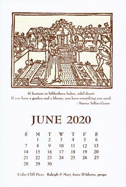 June, 2020, Cedar Cliff Press