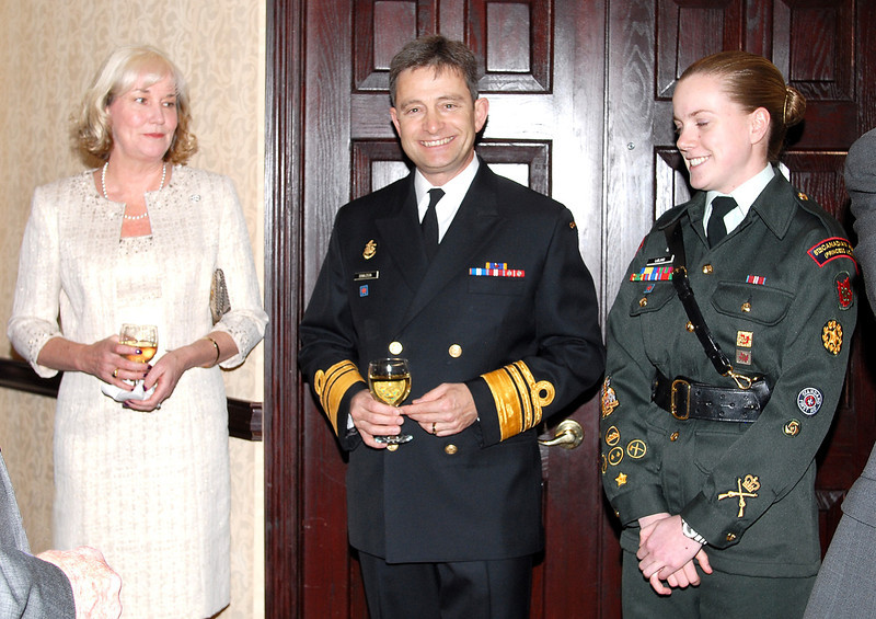 Mrs (Mme) Gina Donaldson, VAdm, Donaldson and Julie LeBlanc