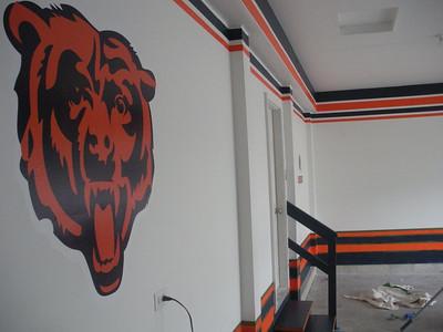 Chicago Bear themed garage