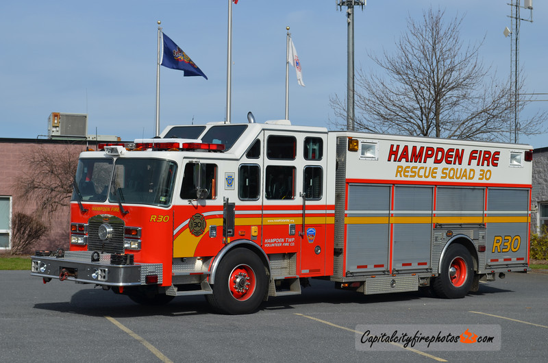 Hampden Township X-Rescue 30: 2000 KME (** replaced in 2015 **)