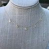 1.01ctw Trillion Rose Cut Diamond Scatter Necklace 25