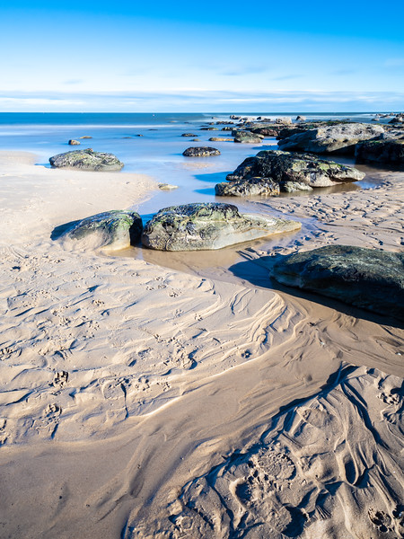 Patterns on Longsands Beach